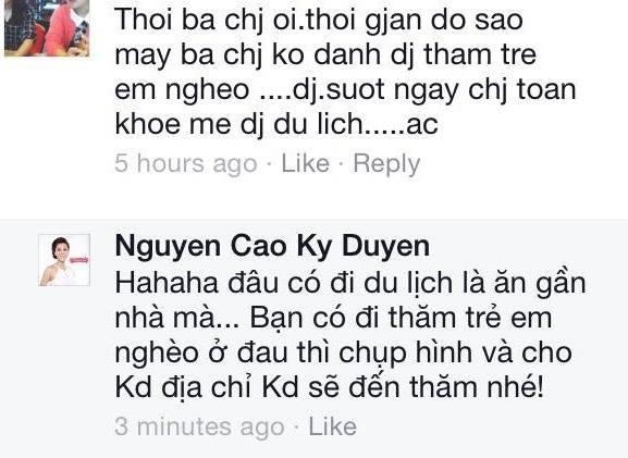 Những bình luận của anh hùng bàn phím mỗi khi MC Kỳ Duyên đăng tải hình lên trang cá nhân - Tin sao Viet - Tin tuc sao Viet - Scandal sao Viet - Tin tuc cua Sao - Tin cua Sao