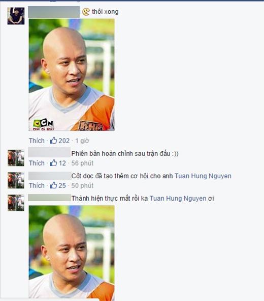 Cư dân mạng hào hứng chế ảnh Tuấn Hưng cạo đầu vì U23 Việt Nam - Tin sao Viet - Tin tuc sao Viet - Scandal sao Viet - Tin tuc cua Sao - Tin cua Sao