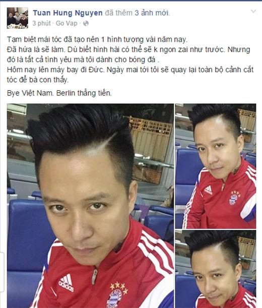 Sau khi trận đấu kết thúc với phần thắng nghiêng về đội Thái Lan, Tuấn Hưng lập tức lên tiếng giữ đúng lời hứa sẽ cạo đầu thể hiện uy tín với người hâm mộ. - Tin sao Viet - Tin tuc sao Viet - Scandal sao Viet - Tin tuc cua Sao - Tin cua Sao