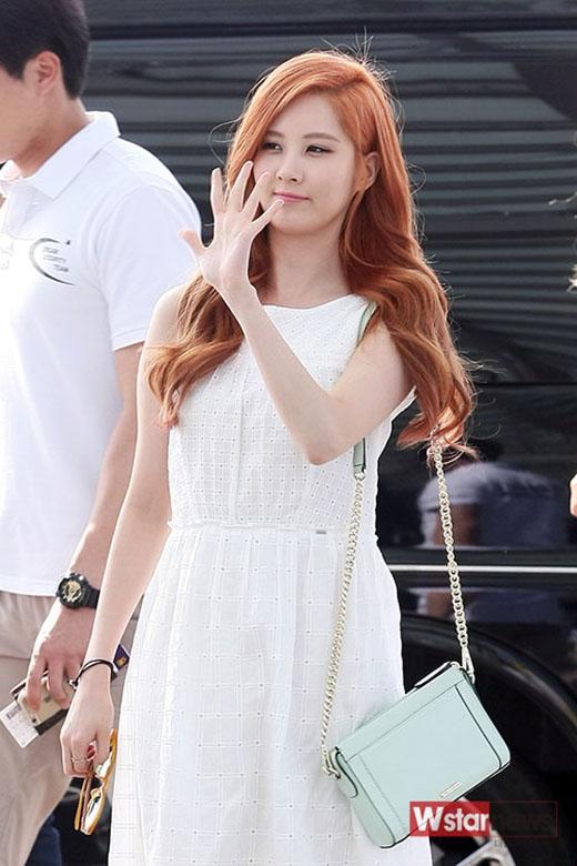 Em út Seohyun xinh đẹp với màu tóc mới.