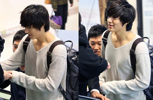 Ngoài gương mặt điển trai, Lee Min Hocòn khiến fan bất ngờ khi sở hữu một bờ vai rộng và đầy quyến rũ.
