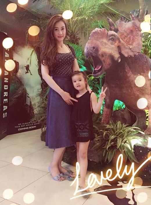 Bé Kitty và mẹ Dương Thúy Nga