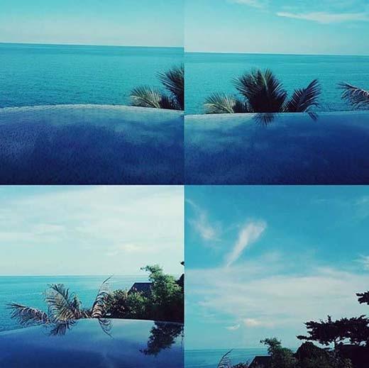 Seohyun thích thú với thời tiết ở đảo Cosa Mui, Thái Lan. Cô nàng viết: Đây là Cosa Mui, thời tiết ở đây tuyệt vời luôn.