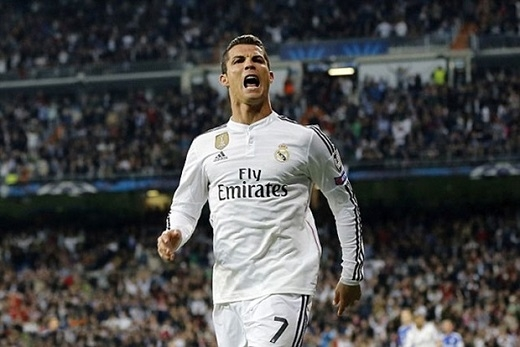 3. Cristiano Ronaldo (Real Madrid, 83-92 triệu bảng).