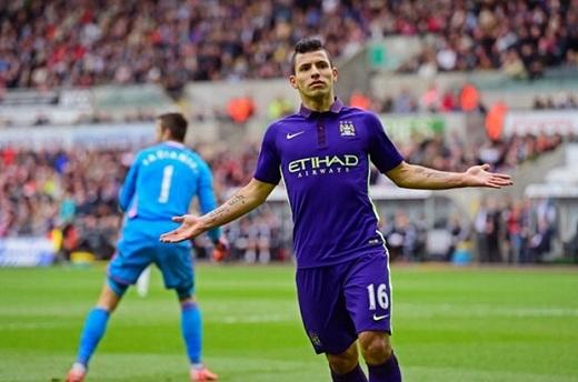 5. Sergio Aguero (Man City, 57-63 triệu bảng).