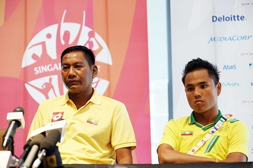 HLV của U23 Myanmar tuyên bố sẽ hạ U23 Việt Nam để vào chung kết. Ảnh: Độc Lập.