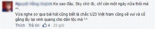 Cư dân mạng sốt xình xịch với bài hát cổ vũ U23 Việt Nam của Sơn Tùng M-TP