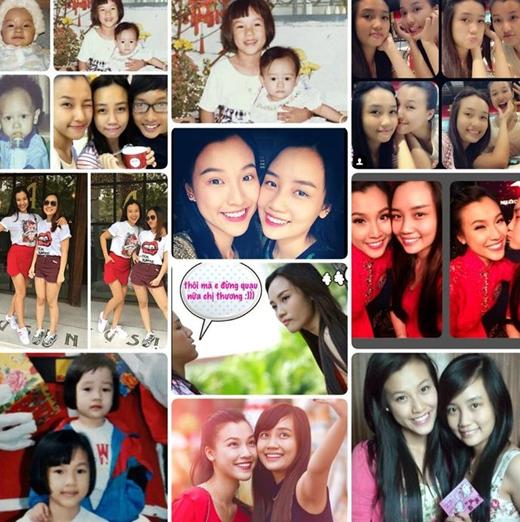 MC - Á hậu Hoàng Oanh đã dành những lời chúc ngọt ngào và đầy tình yêu thương của một người chị, để gửi gắm đến cô em gái của mình. Cô mong muốn rằng dù có thế nào thì cả hai chị em lúc nào cũng ở bên cạnh nhau như bây giờ.