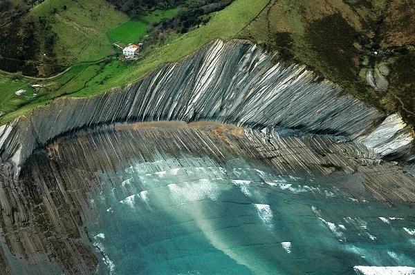 Tại một số nơi, sự biến dạng cấu trúc được tạo ra nhờ sự va chạm mảng kiến tạo nghiêng và các tầng đá trầm tích.