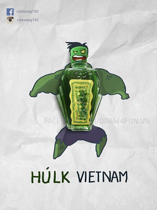 Người khổng lồ xanh Hulk phiên bản... dầu gió xanh.
