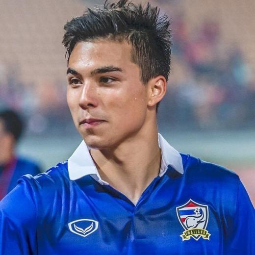 """""""Tê liệt"""" với vẻ đẹp trai """"ngoài sức tưởng tượng"""" của chàng tiền vệ Thái Lan"""
