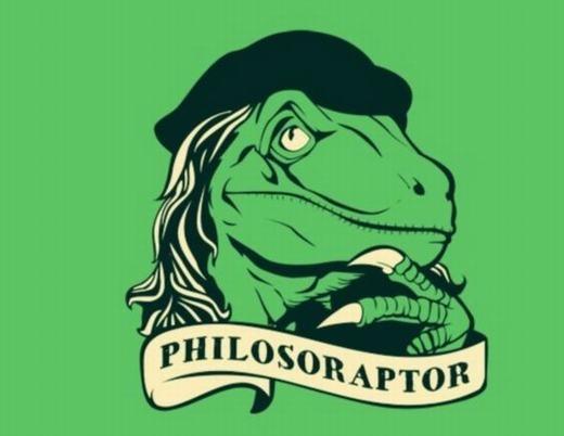 """Có gì không hiểu hãy hỏi """"khủng long bác học"""" Philosoraptor nhé! Nhưng đây cũng là khủng long chuyên thắc mắc nhất đấy!"""