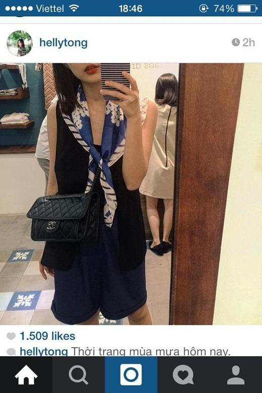 Helly Tống là một trong số ít những cô nàng hot girl mà lại sớm trở thành bà chủ kinh doanh thành đạt. Dù còn khá trẻ tuổi nhưng cô hiện là bà chủ của những cửa hàng thời trang được rất nhiều người yêu thích. Mới đây, cô nàng khoe trên trang cá nhân thời trang ngày mưa vô cùng chất của mình.