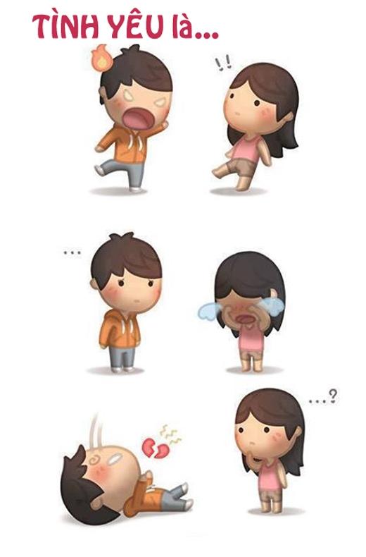 """""""Tình yêu"""" là khi nhìn thấy cậu khóc, tim tớ cũng vỡ theo luôn."""