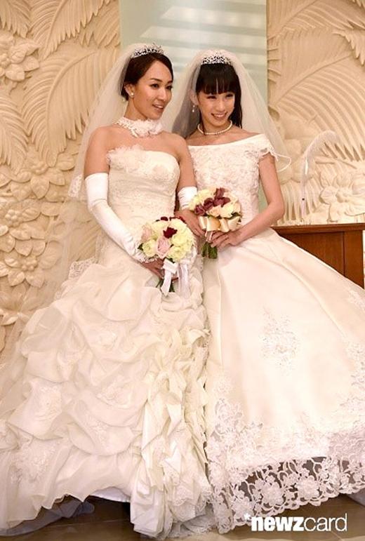 Đám cưới của hai sao nữ Nhật Bản Ayaka Ichinose và Akane Sugimori.