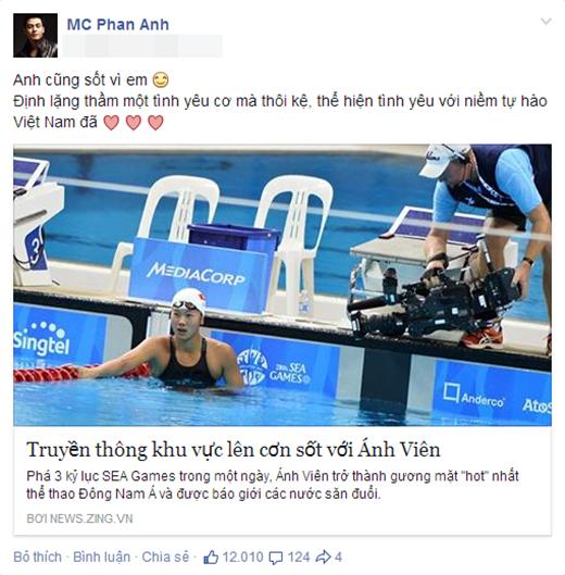 .... và MC Phan Anh đều vô cùng ngưỡng mộ tài năng của kình ngư ngoài hành tinh Ánh Viên. - Tin sao Viet - Tin tuc sao Viet - Scandal sao Viet - Tin tuc cua Sao - Tin cua Sao