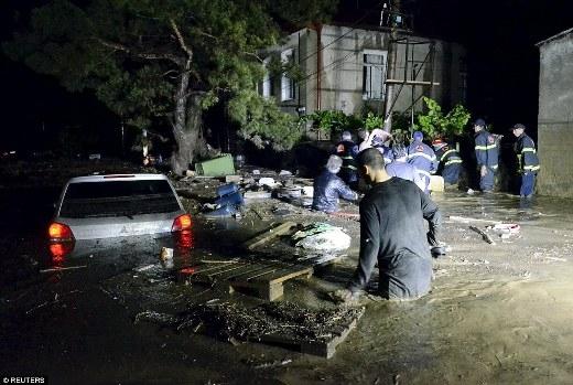 Thủ tướng Gruzia, Irakli Garibashvili đã tuyên bố thành lập trung tâm khẩn cấp, tăng cường công tác cứu hộ và khắc phục hậu quả thiên tai. Ngoài ra, thủ tướng cũng ban bố lệnh người dân nên ở trong nhà vào lúc này và không nên đi lang thang ngoài đường để tránh bị nguy hiểm bởi những con thú xổng chuồng.