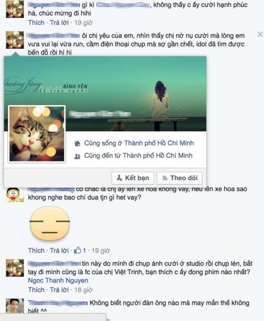 Cũng trong thời gian này, Việt Trinh cũng đăng những chia sẻ đầy ẩn ý về chuyện tổ chức đám cưới. Rất nhiều fans hâm mộ đã chúc phúc cho cô. - Tin sao Viet - Tin tuc sao Viet - Scandal sao Viet - Tin tuc cua Sao - Tin cua Sao