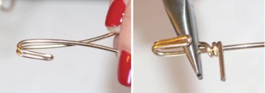 Hãy dùng kìm và một chút nội công để bẻ cong tiếp đầu kẽm thành một cái móc.