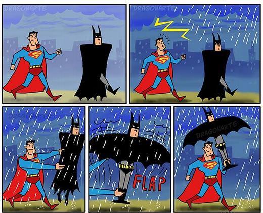Chiếc dù Batman!