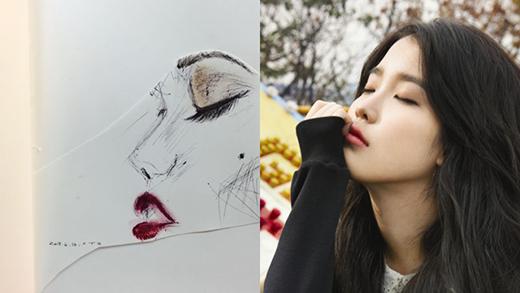 Mới đây, Suzy gây bất ngờ khi vẽ chân dung của IU và đăng tải lên trang cá nhân của mình. Chỉ cần bút bi và bút chì màu, Suzy có thể khắc họa được đường nét của IU. Sau khi những hình ảnh này được chia sẻ, cư dân mạng không khỏi ngạc nhiên với tài năng hội họa của tình đầu quốc dân.
