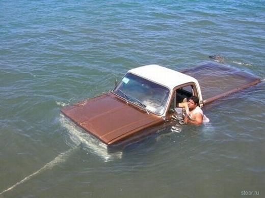 """""""Nhiều nước như thế này mới đủ để rửa xe của anh nhé""""."""