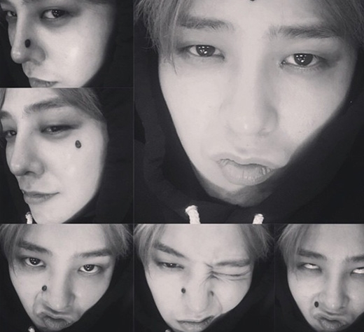 Trưởng nhóm Big Bang - G-Dragon khiến fan thích thú với loạt ảnh làm xấu cực đáng yêu.
