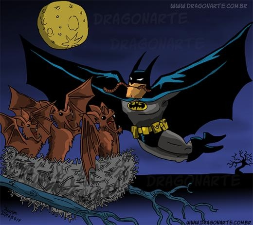 Batman tha mồi về... nuôi con.