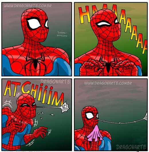 Khi Spider Man hắt xì