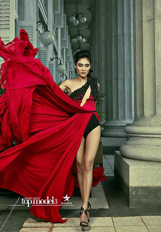 Bức ảnh chiến thắng của Gani trong thử thách chụp ảnh cuối cùng của Asia's Next Top Model 2015.