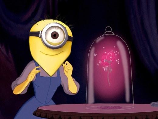 Vẻ mặt hào hứng của Minion Bell đợi hoa hồng tình yêu của mình nở rộ.