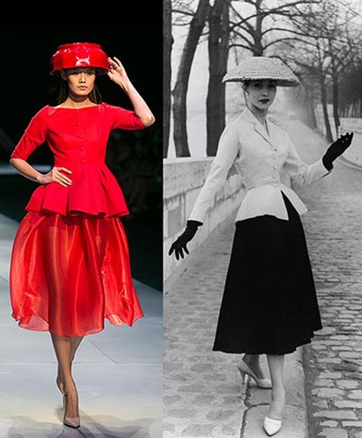 """Trước đó, NTK Hoàng Minh Hà cũng từng bị tố """"đạo"""" thiết kế này của Dior trong BST trình diễn tại Tuần lễ Thời trang Quốc tế Việt Nam - VietNam International Fashion Week 2014."""