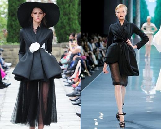 Đầu tiên, với mẫu thiết kế mà Đỗ Mạnh Cườngchia sẻ thích nhất trong BST lần này lại khiến nhiều người liên tưởng đến phom váy kinh điển của thương hiệu Dior. Bằng chứng cũng được đưa ra khi mẫu thiết kế của Đỗ Mạnh Cường có nhiều nét tương đồng với 2 mẫu trang phục trong show diễn vào năm 2009 của thương hiệu đình đám này.
