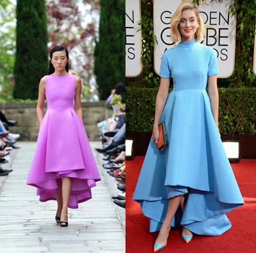 """Mẫu váy mullet lại được cho rằng nhà thiết kế đã """"học hỏi"""" quá đà từ Emilia Wickstead trong BST Xuân - Hè 2014."""
