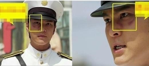 Một lỗi hóa trang khá nghiêm trọng tiếp tục xảy ra trong Bridal Mask. Chỉ trong nháy mắt, vết thương trên mặt Kang To (Joo Won) đã tự di chuyển từ trái sang phải.