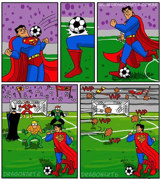 Khi Superman là cầu thủ....