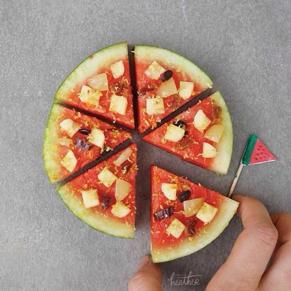 Dưa hấu đội lốt pizza.