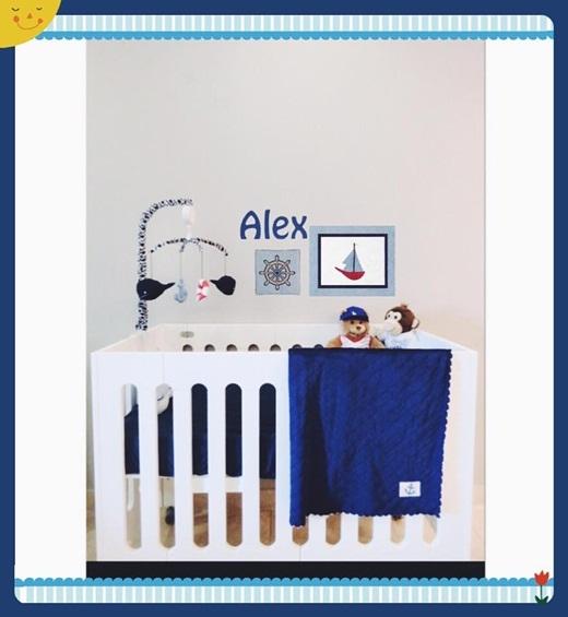 Không gian phòng ngủ của con trai được TâmTítkhoe trên trang cá nhân. Em bé được bố mẹ đặt tên thân mật ở nhà là Alex. - Tin sao Viet - Tin tuc sao Viet - Scandal sao Viet - Tin tuc cua Sao - Tin cua Sao