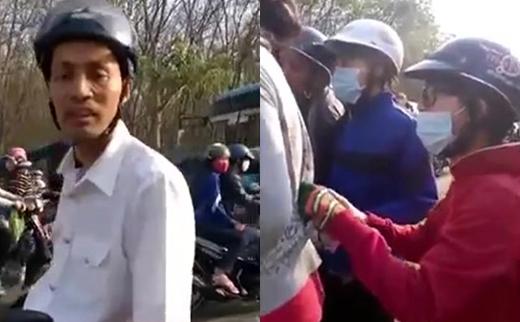Cô gái trẻ tỏ ra rất hoảng sợ