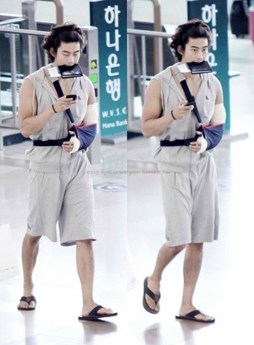 Vốn dĩ sở hữu thân hình cực chuẩn với gương mặt điển trai, nhưng khi diện trang phục này Taecyeon khiến các fan không khỏi bị sốc.