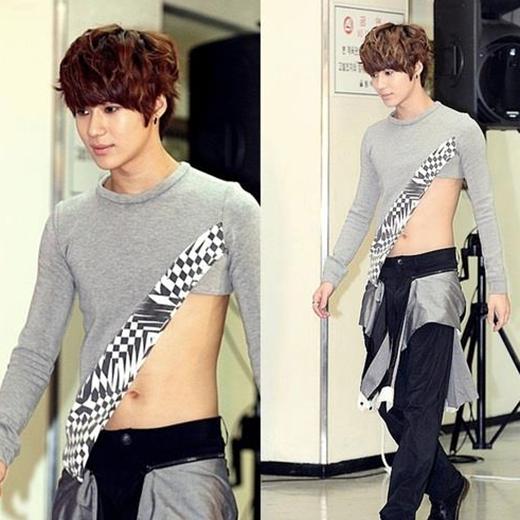 Mặc dù theo đuổi hình tượng unisex, nhưng các fan khó mà chấp nhận được trang phục này của Taemin.