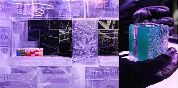 Lối trang trí của Icebar thật sự rất đáng để khách cắn răng chịu lạnh.