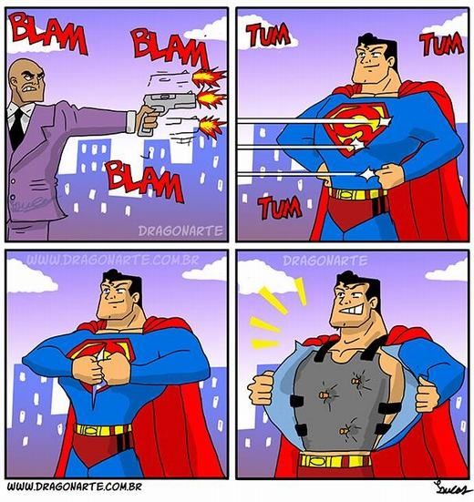 Bí quyết chống đạn của Superman!