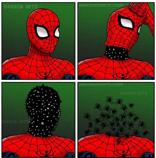 Lí do vì sao Spider Man trùm đầu.