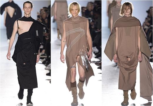 Ngoài việc tạo ra những trang phục với phom dáng khó ứng dụng, Ricks Owens còn nhận khá nhiều lời chỉ trích khi sử dụng kỹ thuật cut out vào đúng khu vực nhạy cảm trên trang phục của những người mẫu nam.