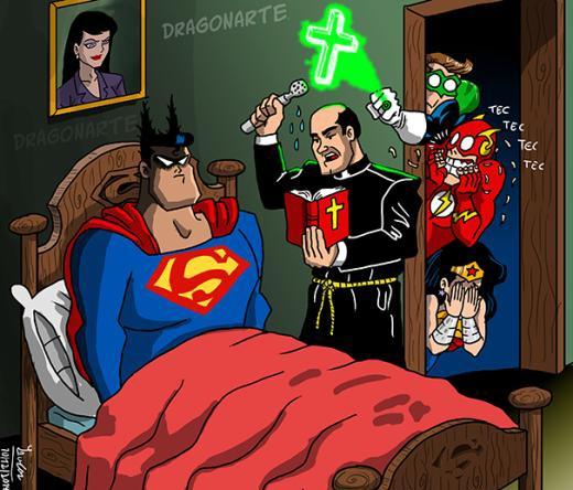 Khi Superman rửa tội!