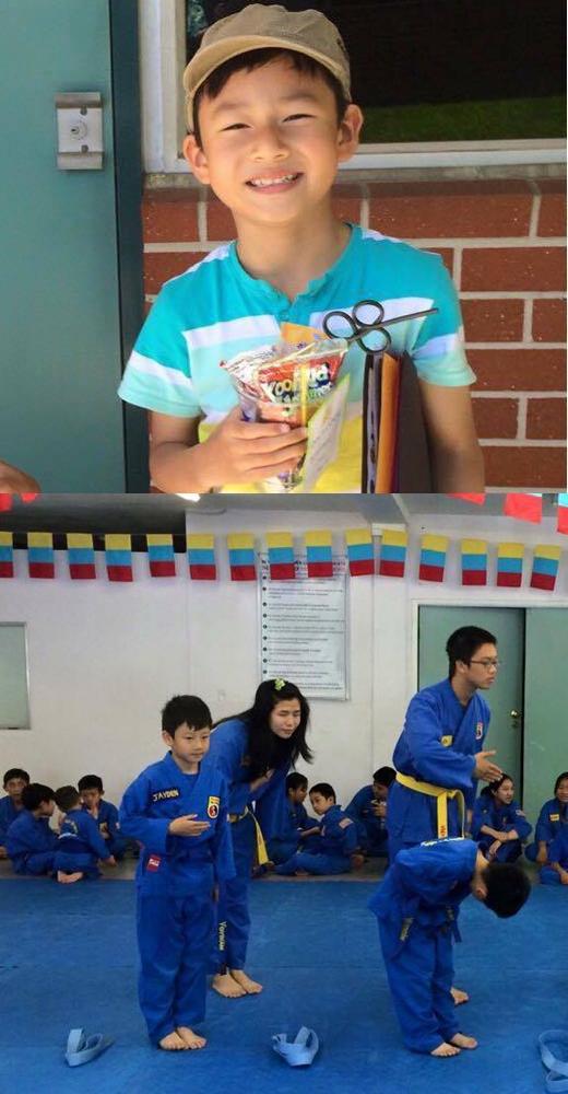 Hoa hậu Jenifer Phạm đã đăng hình ảnh cậu con trai Bảo Nam và chia sẻ rằng, hôm nay là ngày cuối cùng của năm học và cũng là ngày bé Bảo Nam thi lên đai ở trường võ. Nhìn những hình ảnh trưởng thành này của cậu bé, cô cảm thấy rất tự hào về con.