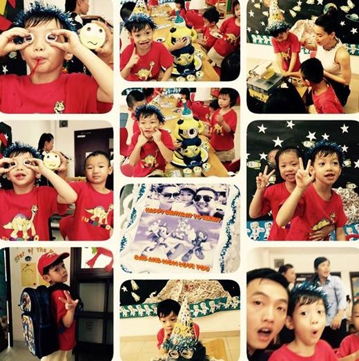 Những hình ảnh vui vẻ của Subeo tại lớp được Cường Đô La chia sẻ. - Tin sao Viet - Tin tuc sao Viet - Scandal sao Viet - Tin tuc cua Sao - Tin cua Sao