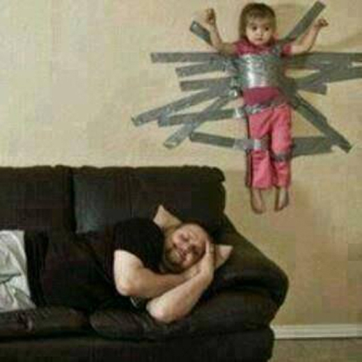 """Kiểu này hơi """"ác"""" nhưng bố được một giấc ngủ ngon."""