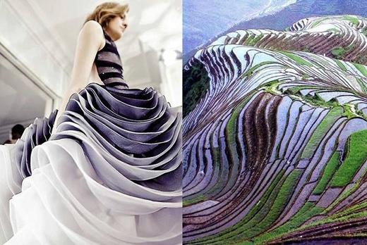 Hay góc nhìn dưới của một chiếc váy xòe xếp tầng công phu.